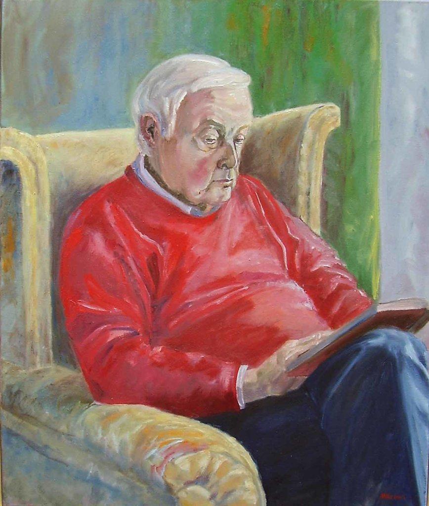 vader, 50 x 60, olieverf op doek, verkocht