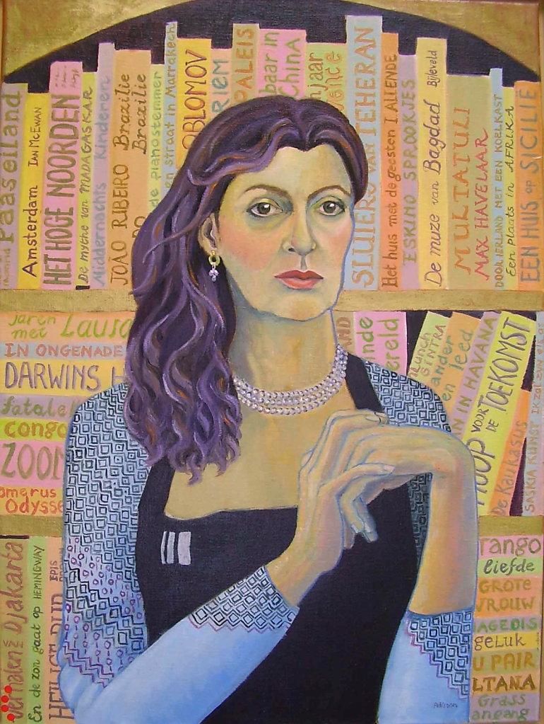 zelfportret, 60 x 80, olieverf op doek, niet te koop
