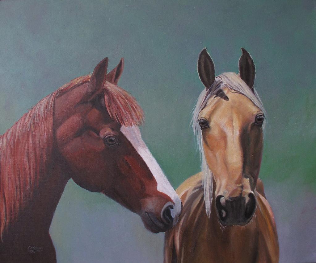 Paarden van Cecilia, olieverf op doek, verkocht